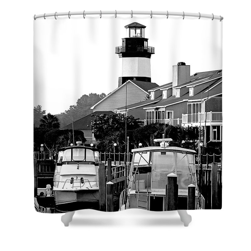 Lighthouse Shower Curtain featuring the photograph Little River South Carolina by David Smith