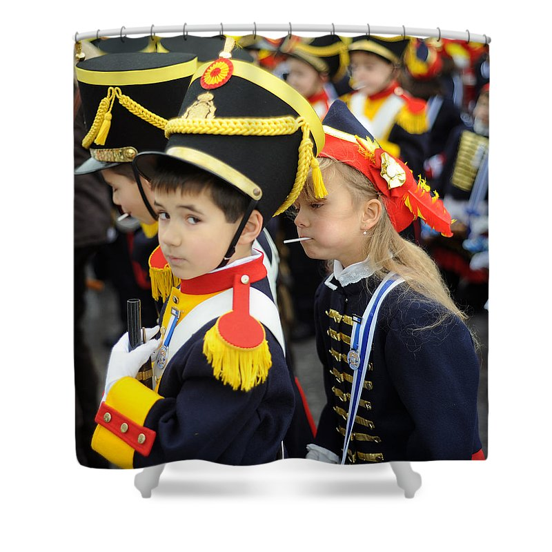 Spain Shower Curtain featuring the photograph Little Soldiers II by Rafa Rivas