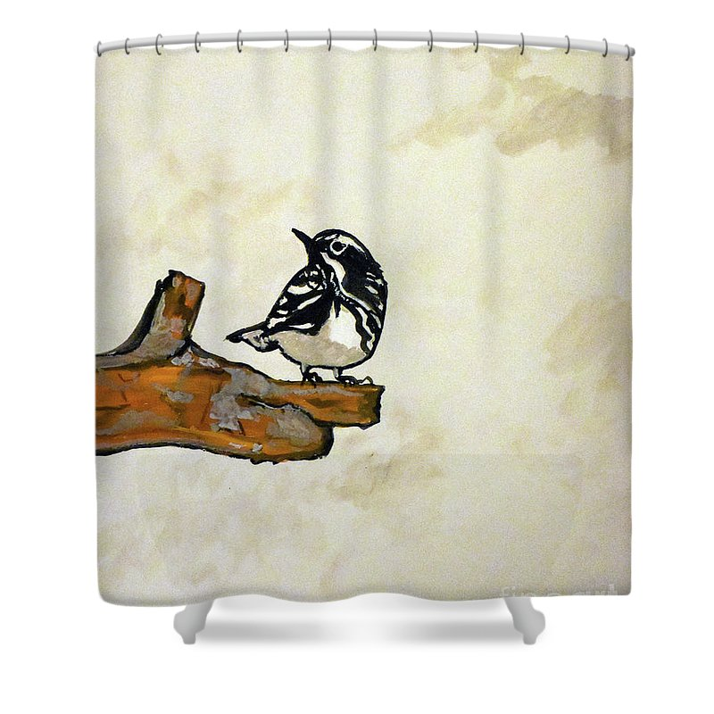 Birds Shower Curtain featuring the painting Little Things by David Forsyth