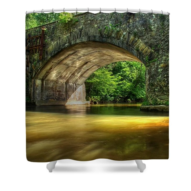 Bridge Shower Curtain featuring the photograph Live In Dreams by Mitch Cat