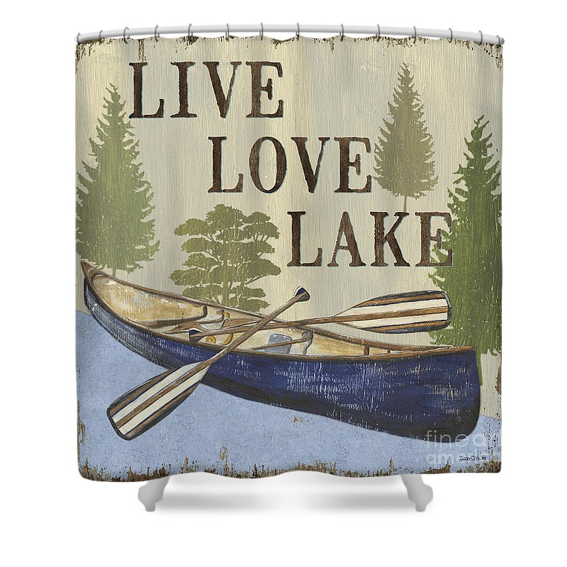 Live Love Lake Shower Curtain For Sale By Debbie DeWitt