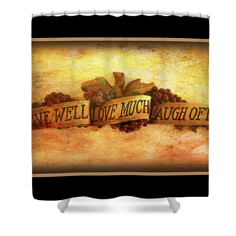 Live Shower Curtain Featuring The Photograph Love Laugh Sable Border By David Ross