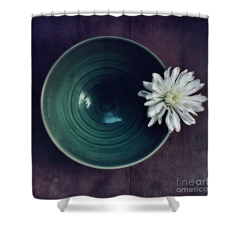 Simplicity Shower Curtain featuring the photograph Live Simply by Priska Wettstein