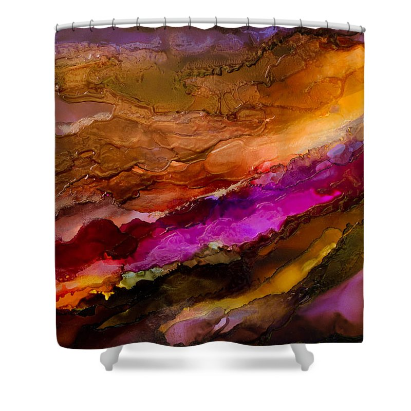 Abstract Shower Curtain featuring the painting Live Your Passion - C - by Sandy Sandy