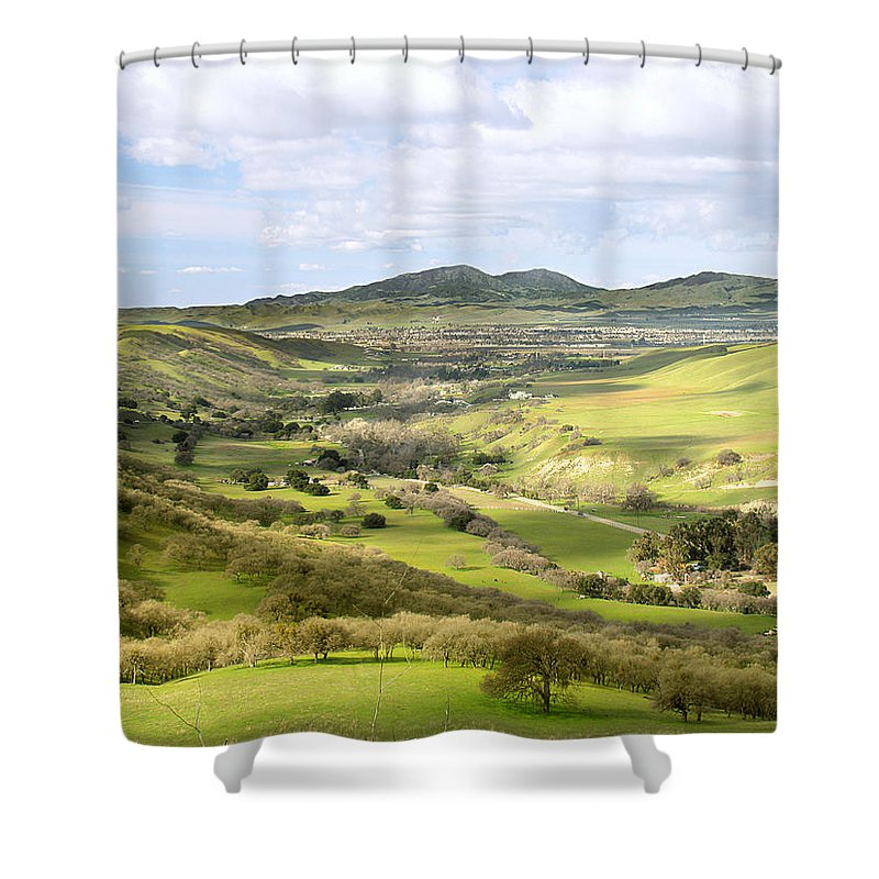 Landscape Shower Curtain featuring the photograph Livermore Valley by Karen W Meyer