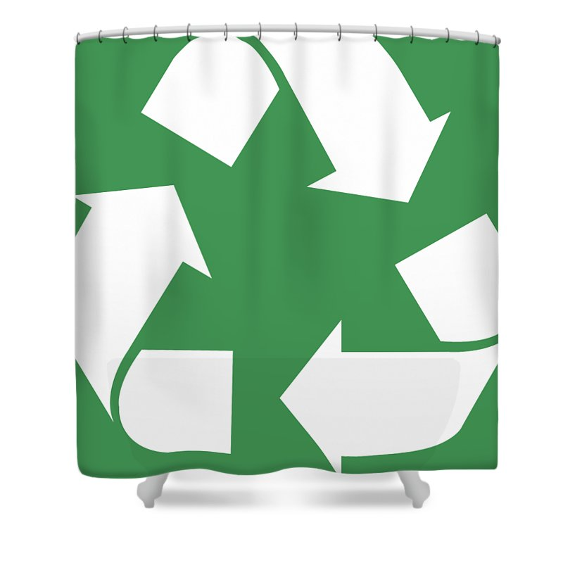 Living Green White Reduce Reuse Recycle Repurpose Shower Curtain For Sale By Tina Lavoie