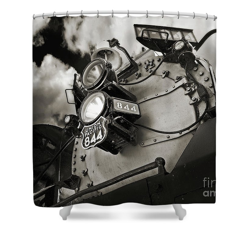 Trains Shower Curtain featuring the photograph Living Legend 844 by John Anderson