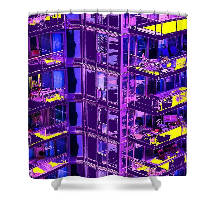 Urban Shower Curtain featuring the photograph Living Wall by Ian MacDonald