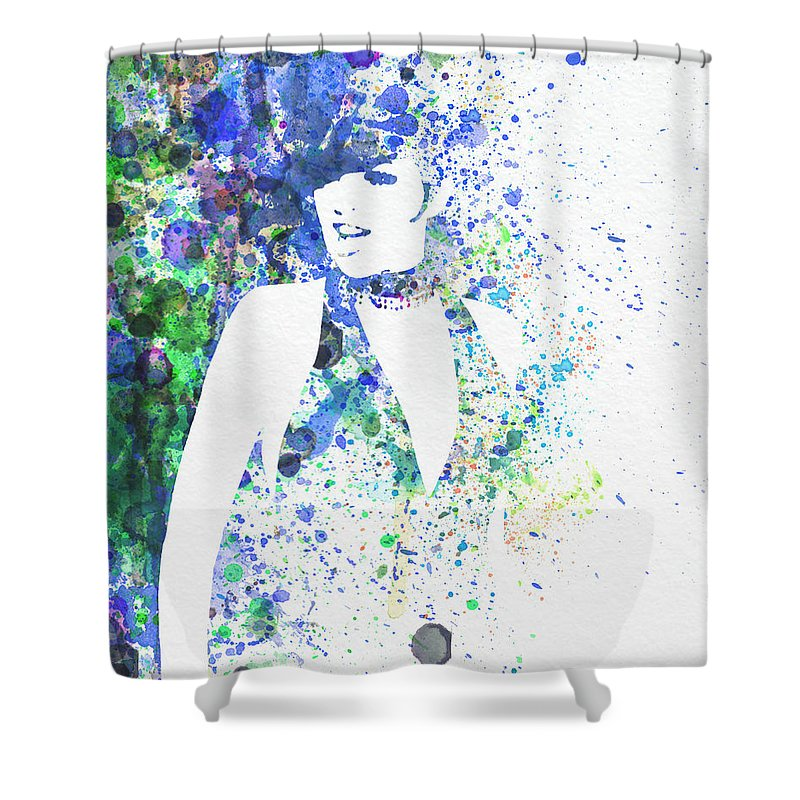 Liza Minnelli Poster Digital Art Shower Curtain featuring the digital art Liza Minnelli Cabaret by Naxart Studio