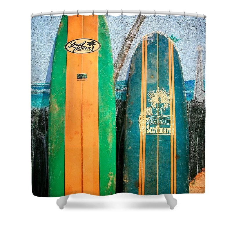 Local Shower Curtain featuring the photograph Local Motion by Chris Dutton
