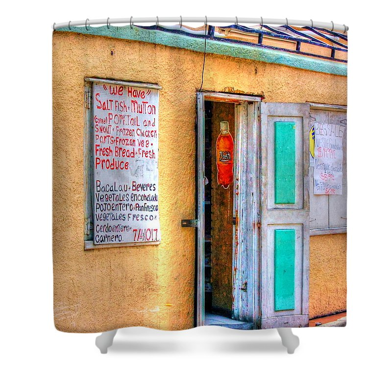 Store Shower Curtain featuring the photograph Local Store by Debbi Granruth