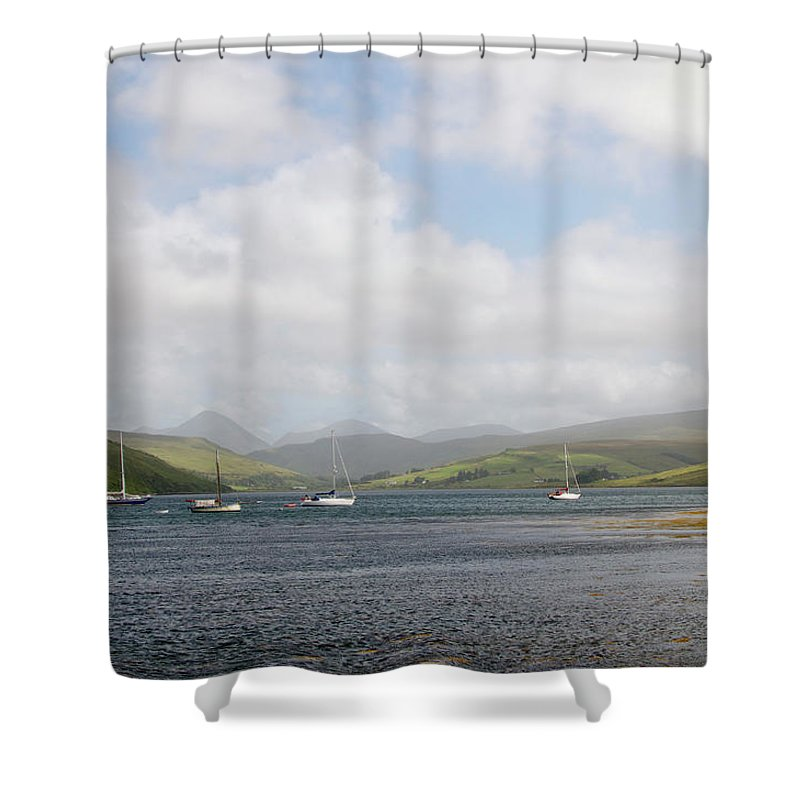 Skye Shower Curtain featuring the photograph Loch Harport At Carbost by Porter Glendinning