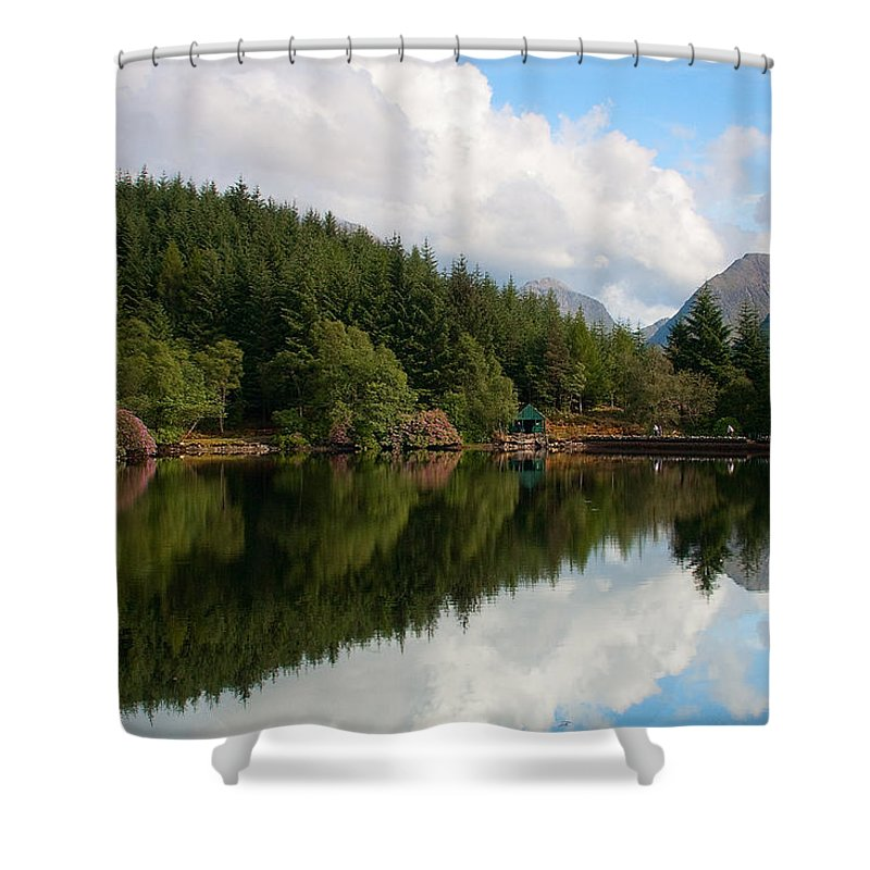 Scotland Shower Curtain featuring the photograph Lochan Glencoe by Colette Panaioti