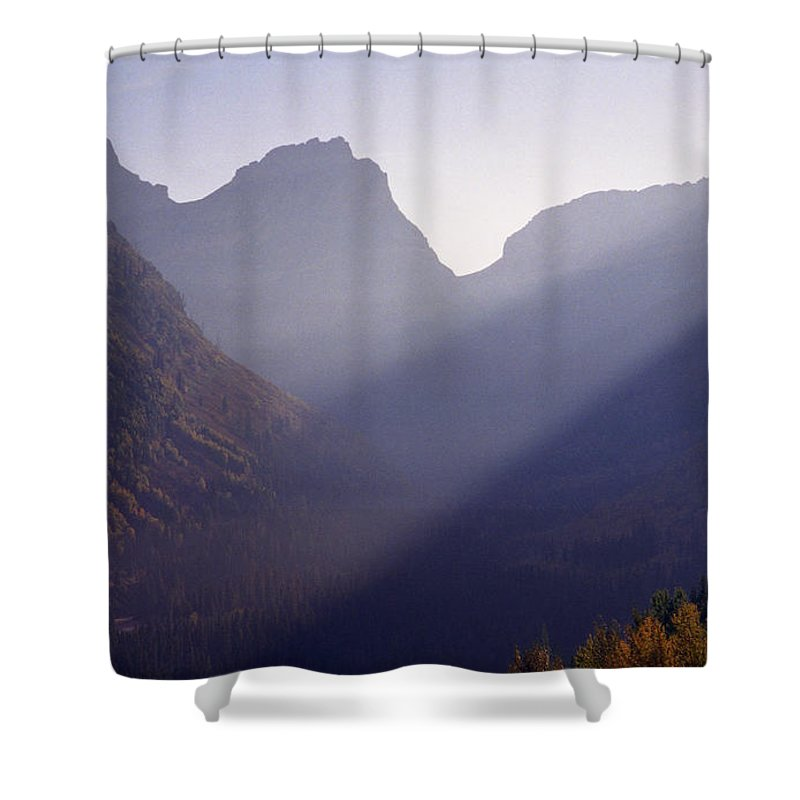 Mountains Shower Curtain featuring the photograph Logan Pass by Richard Rizzo