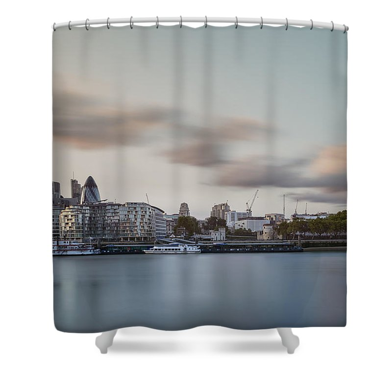 London Shower Curtain featuring the photograph London City by Ivelin Donchev