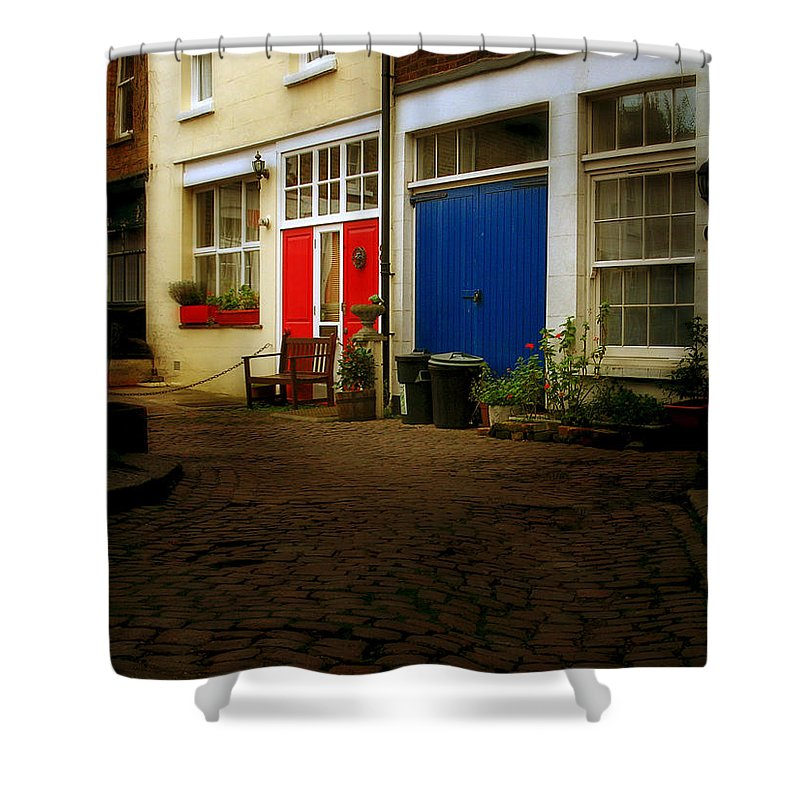 London Shower Curtain featuring the photograph London Mews by Osvaldo Hamer