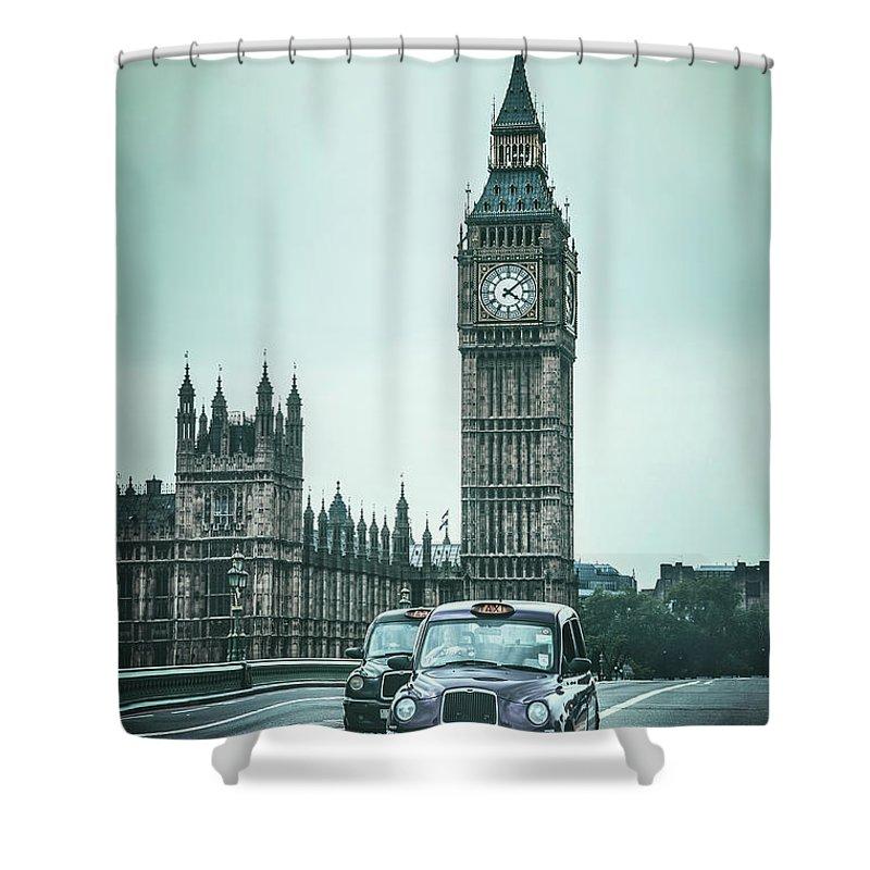 Kremsdorf Shower Curtain featuring the photograph London Times by Evelina Kremsdorf