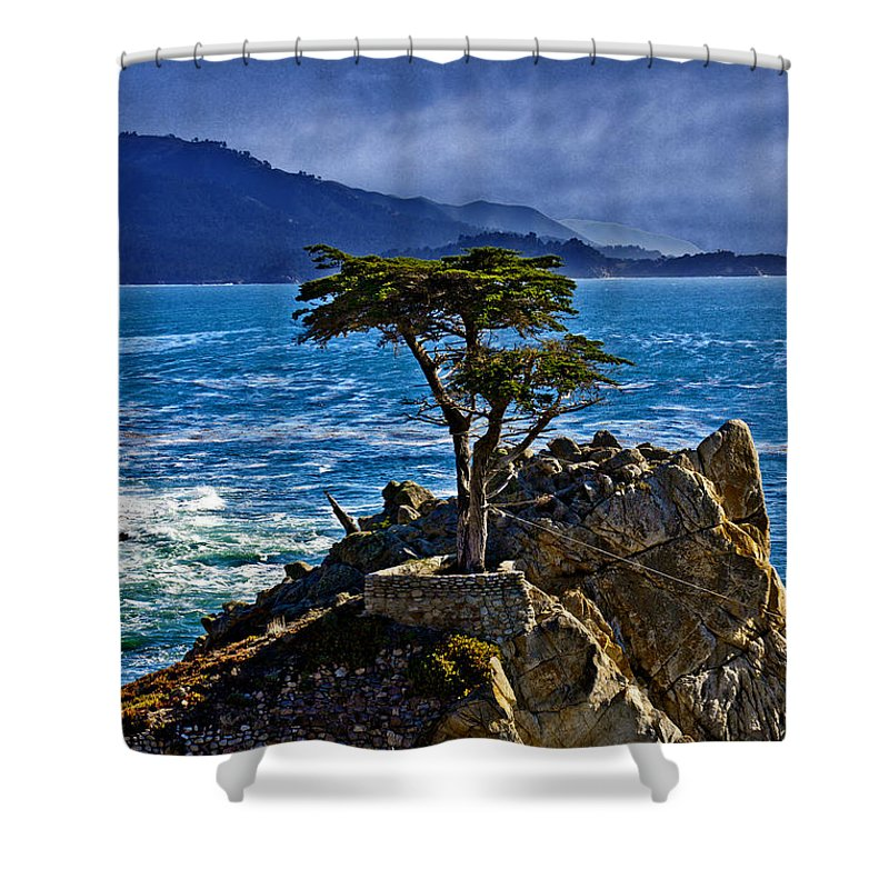 Lone Shower Curtain featuring the photograph Lone Cypress by David Davis