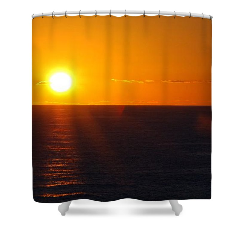 Military-aircraft Shower Curtain featuring the painting Lone Eagle by Celestial Images