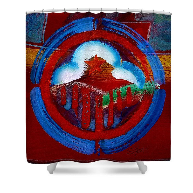 Star Shower Curtain featuring the painting Lone Star State by Charles Stuart
