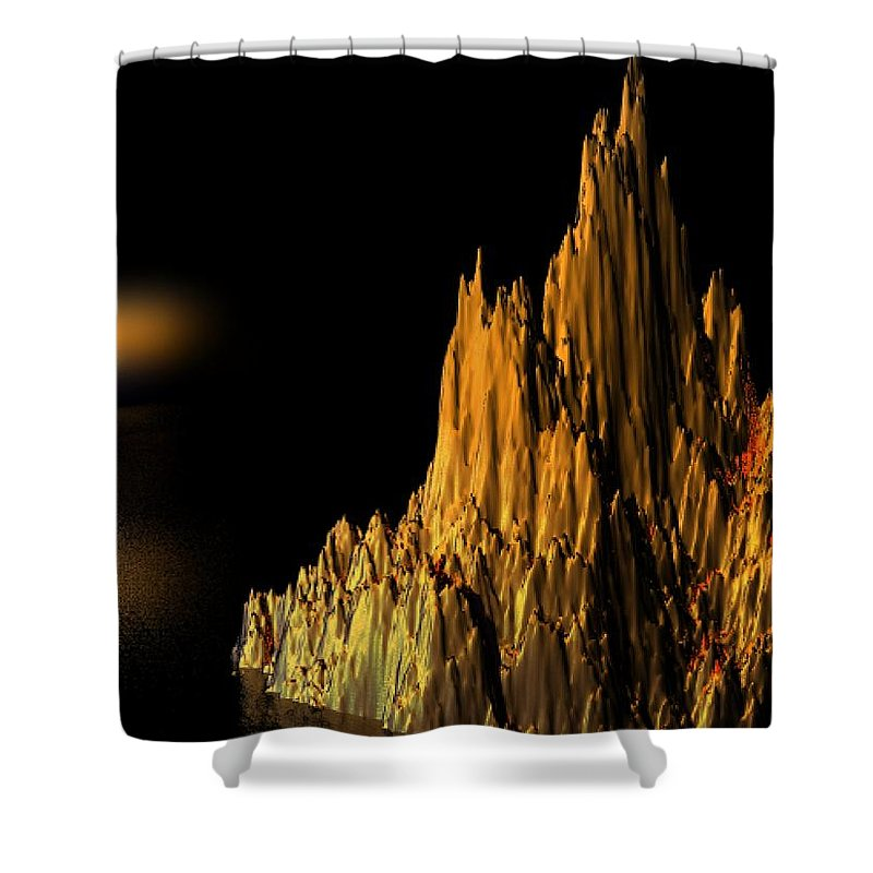 Surreal Shower Curtain featuring the digital art Loneliness by Oscar Basurto Carbonell