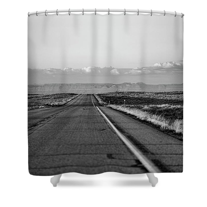 Utah State Route 24 Shower Curtain featuring the photograph Lonely Route 24 by Photopoint Art