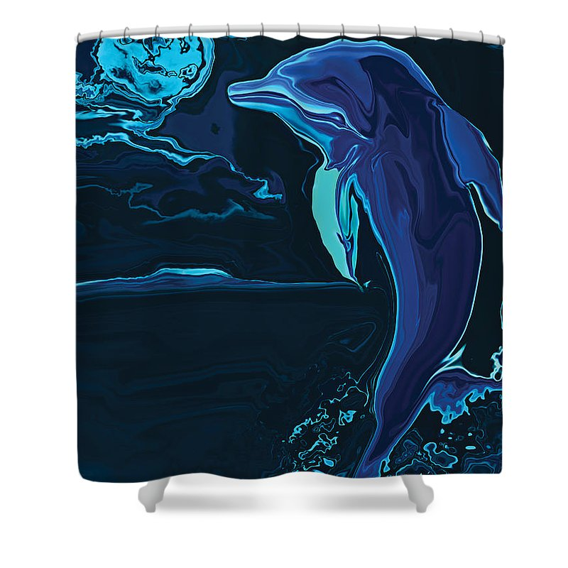 Animal Shower Curtain featuring the digital art Lonely Tonight by Rabi Khan
