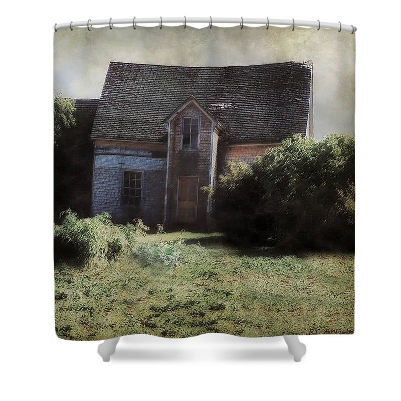 Landscape Shower Curtain featuring the painting Long Ago And Far Away by RC DeWinter