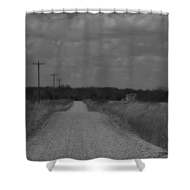 Rural Shower Curtain featuring the photograph Long Road Home.... by Thomas Gorman