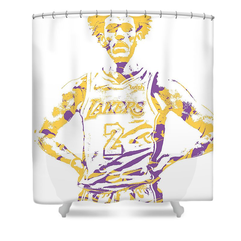 Lonzo Ball Los Angeles Lakers Pixel Art 3 Shower Curtain for Sale ...