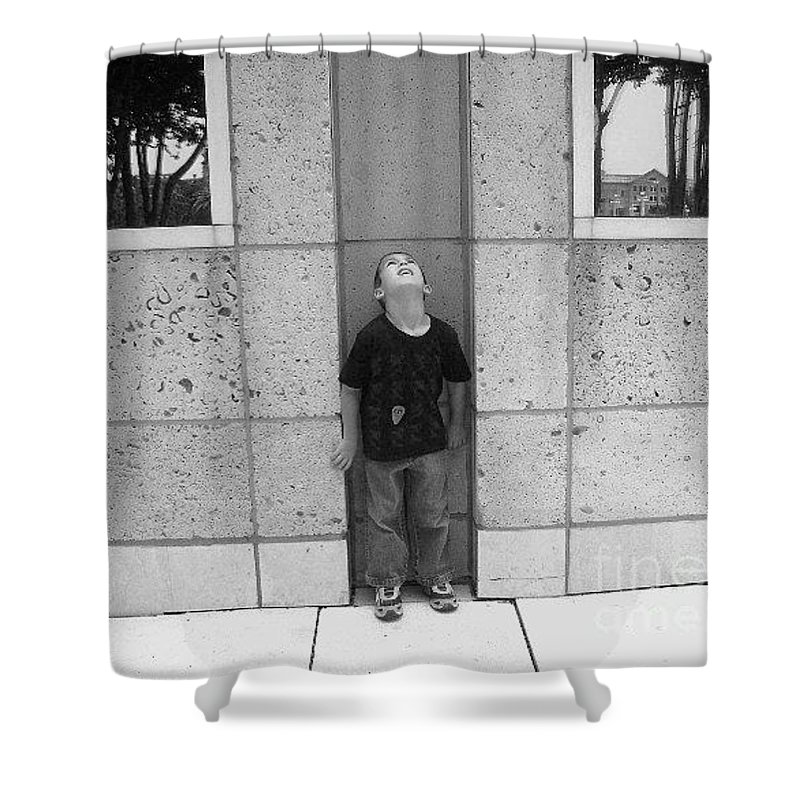 Building Shower Curtain featuring the photograph Looken Up by Michelle S White