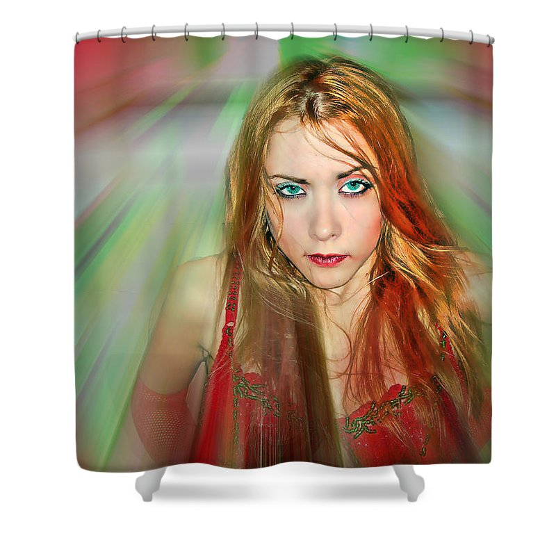 Women Shower Curtain featuring the photograph Looking At You by Francisco Colon