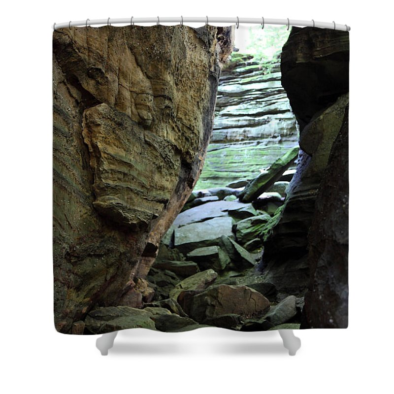 Faces Shower Curtain featuring the photograph Looking Glass by Amanda Barcon