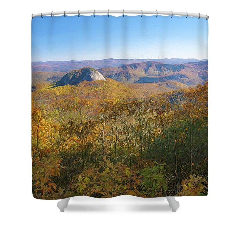 Looking Glass Rock Shower Curtain featuring the digital art Looking Glass Rock by Mark Van Martin