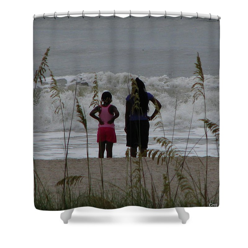 Patzer Shower Curtain featuring the photograph Looking by Greg Patzer