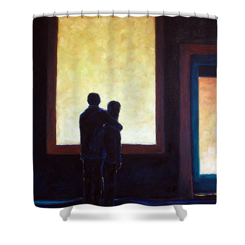 Pranke Shower Curtain featuring the painting Looking In Looking Out by Richard T Pranke