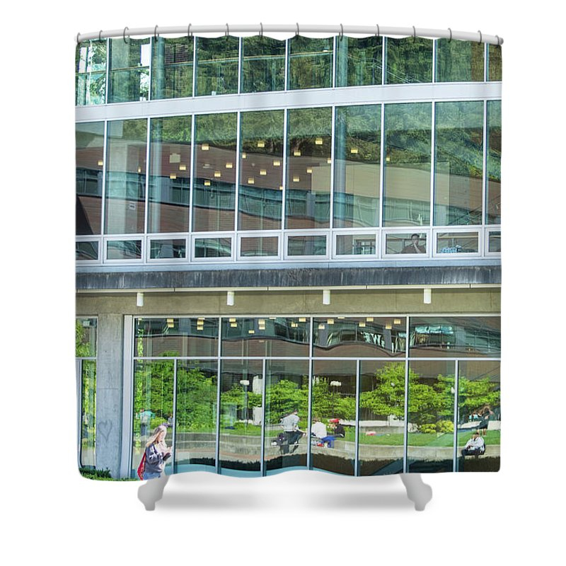 Glass Wall Shower Curtain featuring the photograph Looking Out, Looking In by Tom Cochran