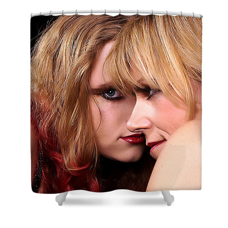 Clay Shower Curtain featuring the photograph Looks by Clayton Bruster