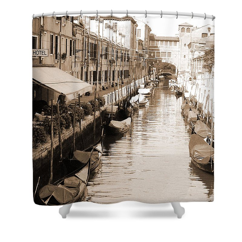 Old Times Shower Curtain featuring the photograph Looks Like Old Times by Donna Corless
