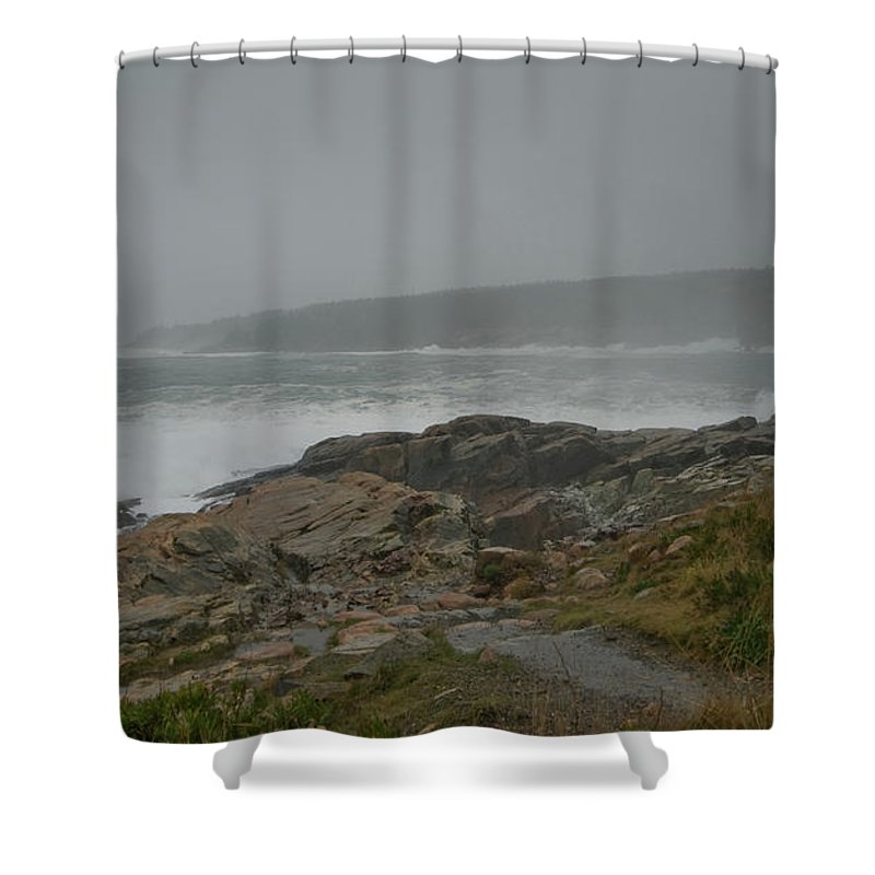 nor' Easter Shower Curtain featuring the photograph Looks Like Rain by Paul Mangold