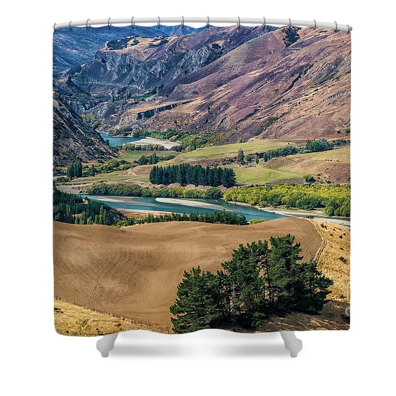 New Zealand Shower Curtain featuring the photograph Lord Of The Rings by Doug Sturgess