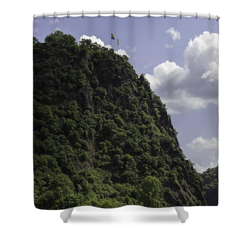 Loreley Shower Curtain featuring the photograph Loreley Rock 06 by Teresa Mucha