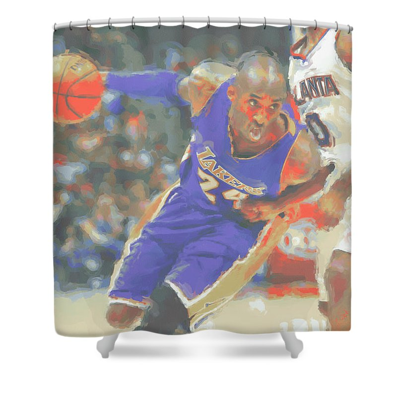 Lovely Lakers Shower Curtain Pictures Inspiration - Bathroom with ...