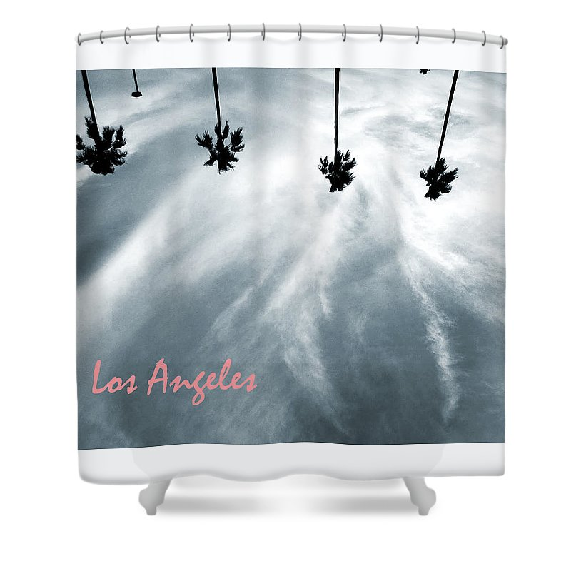 Los Angeles Shower Curtain featuring the digital art Los Angeles by Rosemary Nagorner