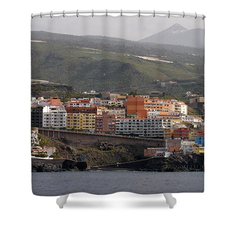 Valasretki Shower Curtain featuring the photograph Los Gigantes From The Sea 2 by Jouko Lehto