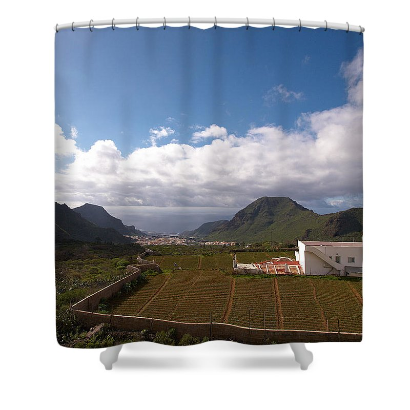 Landscape Shower Curtain featuring the photograph Los Gigantes by Jouko Lehto