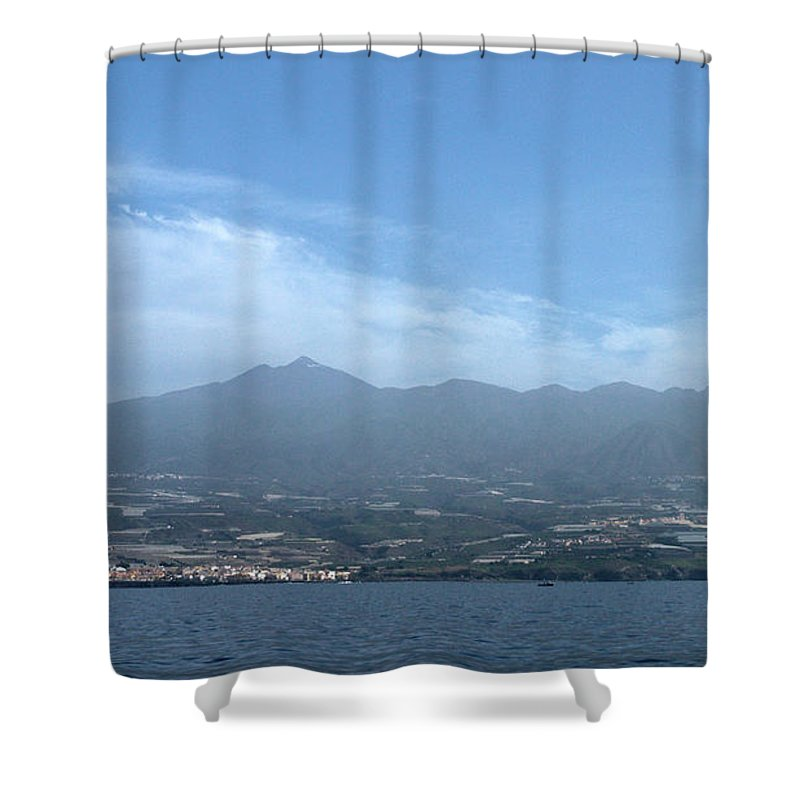 Valasretki Shower Curtain featuring the photograph Los Gigantes Panorama by Jouko Lehto
