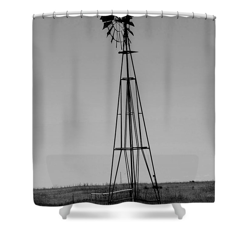 Sante Fe Trail Shower Curtain featuring the photograph Lost Breeze by Tommy Anderson