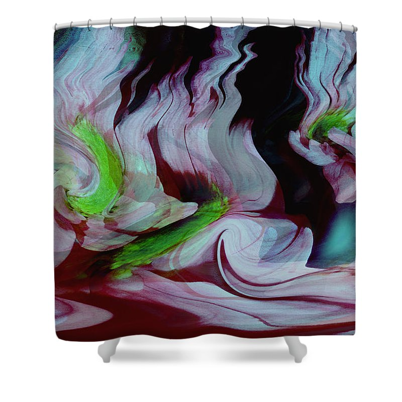 Dream Art Shower Curtain featuring the digital art Lost In A Dream by Linda Sannuti