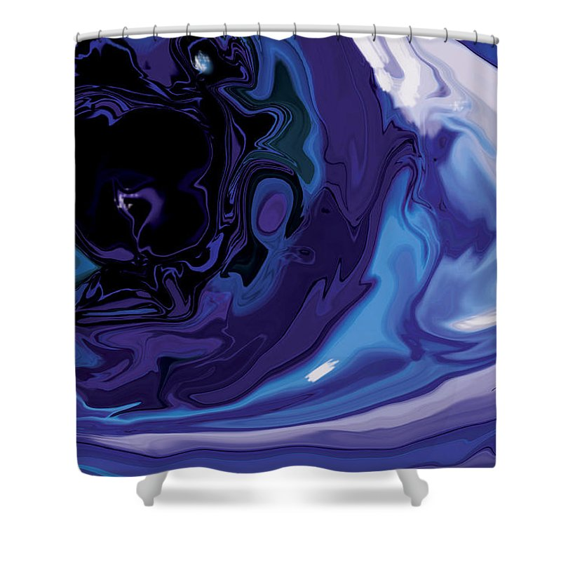 Blue Shower Curtain featuring the digital art Lost-in-to-the-eye by Rabi Khan